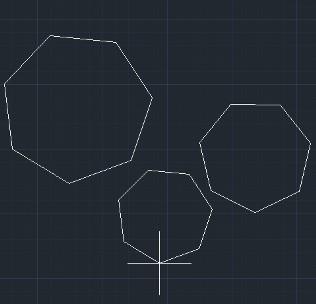 Построение многоугольников AutoCAD