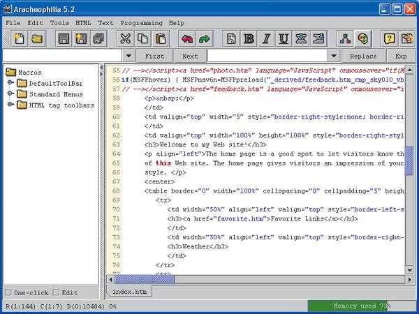 html редактора: