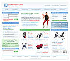 Шаблон сайта - Фитнесс