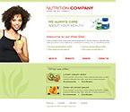 Шаблон сайта - Nutrition Company