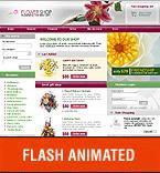 Шаблон сайта - Цветочный магазин