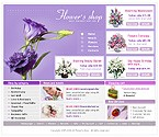Шаблон сайта - Заказ цветов онлайн